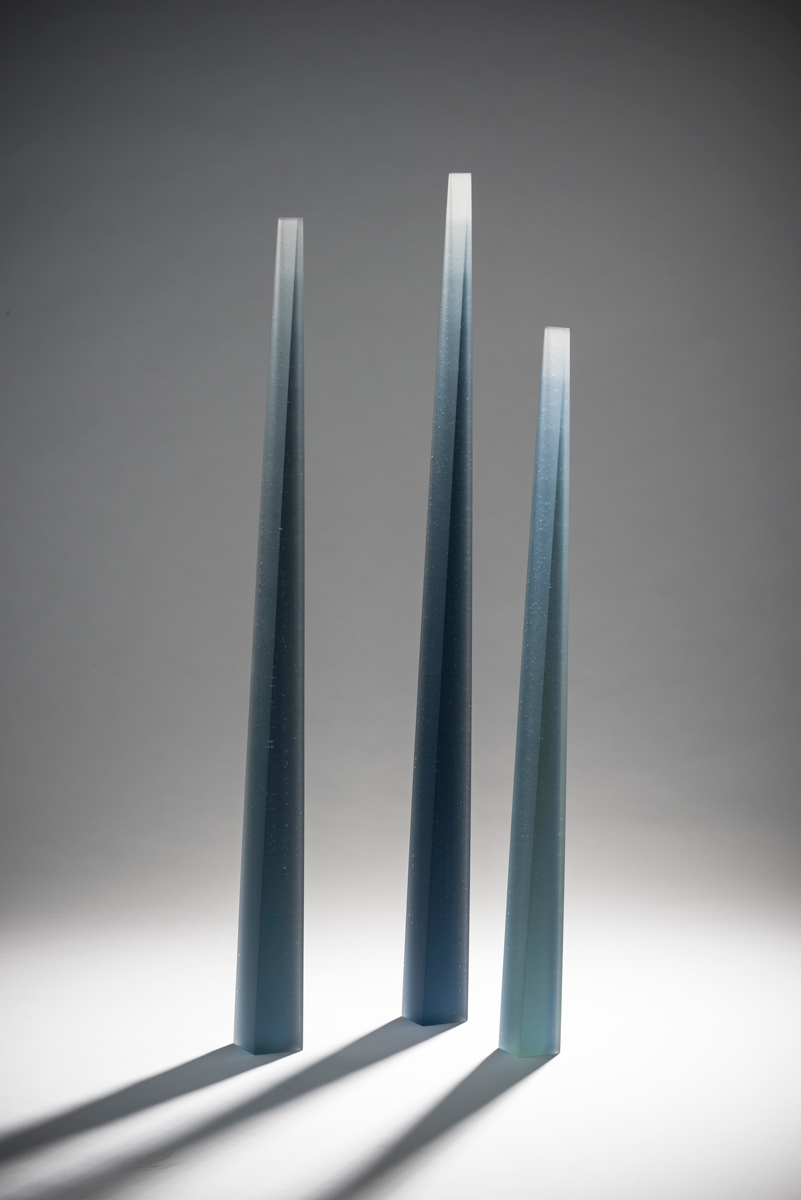 Glass candles Kiln fired layered and fused glass