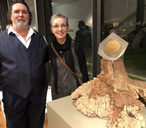 My work Hope Upheld, seen here with Michael Scarrone - Curator of the National Glass Collection, and myself